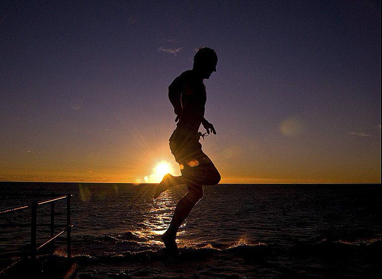 Running on water. Photo Credit - Mark Hunter (http://www.trekearth.com/members/Hubba/)
